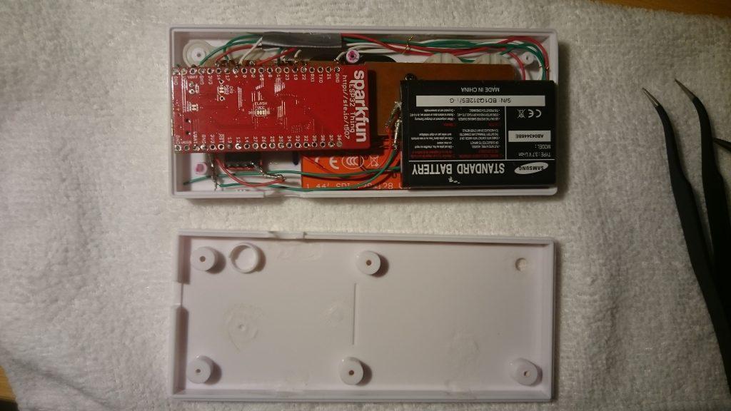 Sparkfun ESP32, AB043446BE 3,7V, ST7735 LCD