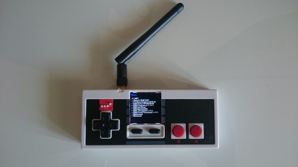 Current main menu of ESP32 NES controller